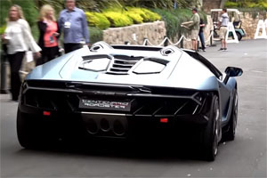 Lamborghini Centenario Roadster Exhaust Note