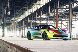 Rainbow Chevrolet Corvette with Fondmetal 9RR wheels by Lennard Laar Photography