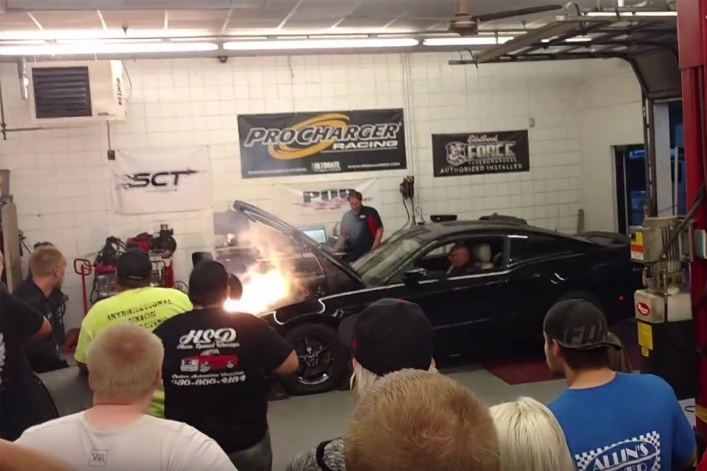 Ford Mustang Nitrous Backfire