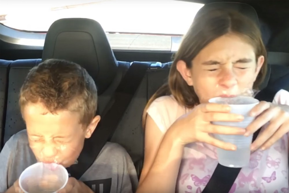 Tesla Model S P90D Ludicrous Mode Water Challenge