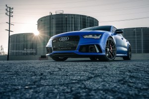 Satin Blue Audi RS 7 with Brixton Forged WR3 Ultrasport+ Wheels