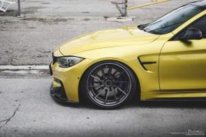 Austin Yellow BMW M4 with Brixton Forged R10D Targa Series Wheels
