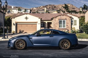 Matte Blue Nissan GT-R with Brixton Forged WR5 Targa Series Wheels