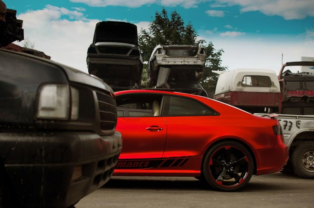 Fostla Matte Red-Chrome Audi RS5