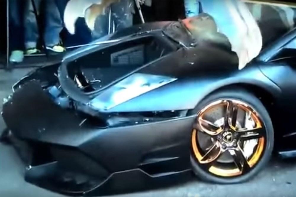 Illegally imported Lamborghini Murceiago Destroyed