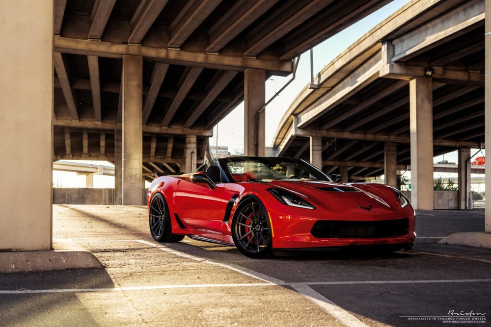 Chevrolet Corvette Z06 Converitble with Brixton Forged M53 Ultrasport+ Wheels