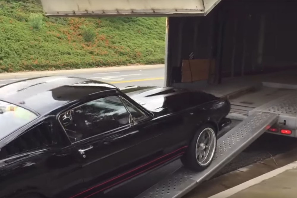 Ford Mustang Driven off Trailer