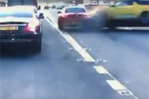 BMW Z4 Causes Accident by Pulling Out