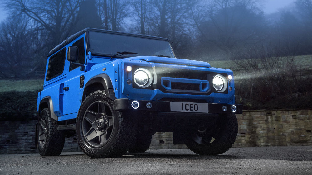 "French Racing Blue Chelsea Truck Company Land Rover Defender 90 ""The End"" Edition"