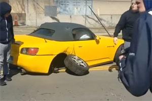 Honda S2000 Crash Leaving Car Meet