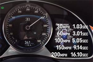 Bugatti Chiron acceleration