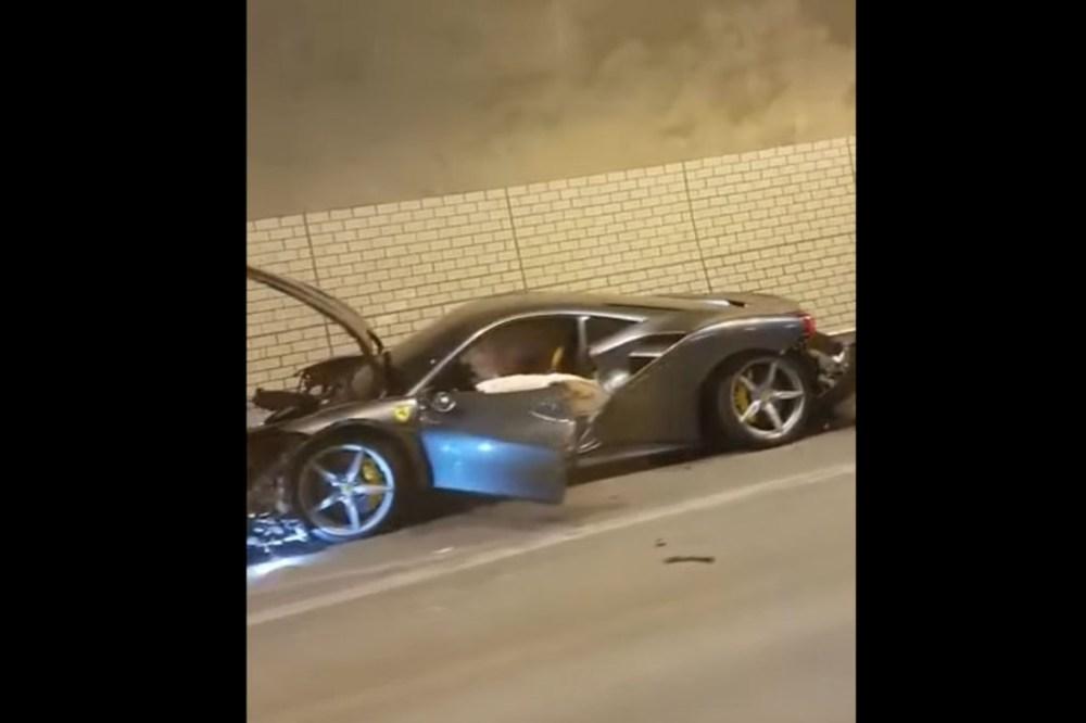 Friday FAIL: Ferrari 488 Spider Crash