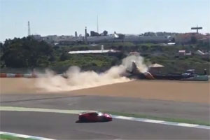 Ferrari 488 GTB crash at Estoril