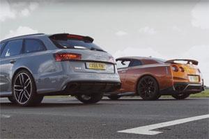 Audi RS6 Avant vs Nissan GT-R