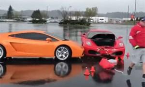 Friday FAIL Ferrari Crashes into Lamborghini