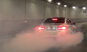Burnouts in Monaco F1 Tunnel