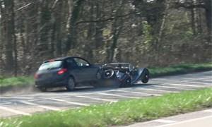 Morgan 4/4 Crash at Car Show