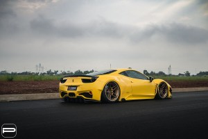 Widebody Ferrari 458 Italia with PUR LX23.3 Wheels by Premier Autowerkz