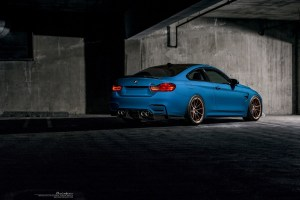 Laguna Seca Blue BMW M4 Brixton Forged WR3 Ultrasport+ Wheels