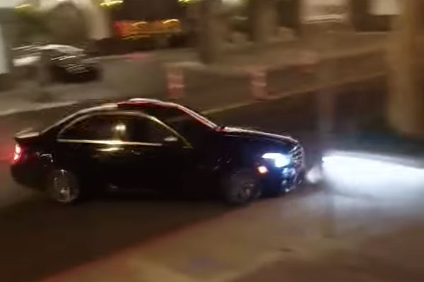 Mercedes-Benz Crash in Las Vegas