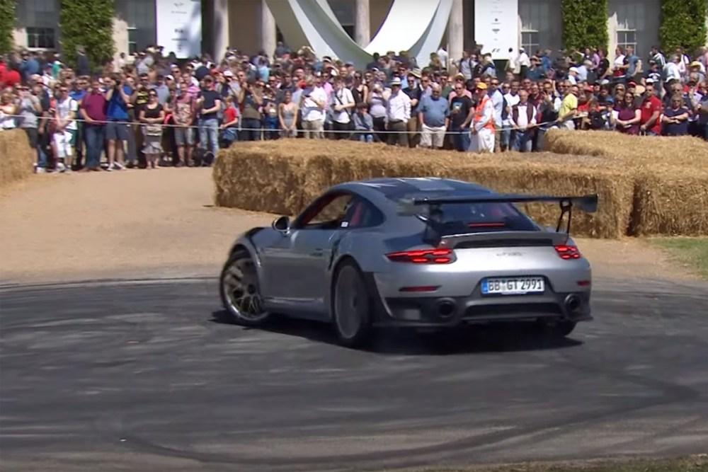 Friday FAIL Porsche 911 GT2 RS Goodwood Donut Fail
