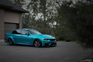 Atlantis Blue BMW M3 with Brixton Forged WR3 Ultrasport+ WheelsAtlantis Blue BMW M3 with Brixton Forged WR3 Ultrasport+ Wheels
