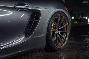 Porsche Cayman with Brixton Forged WR3 Ultrasport+ Wheels