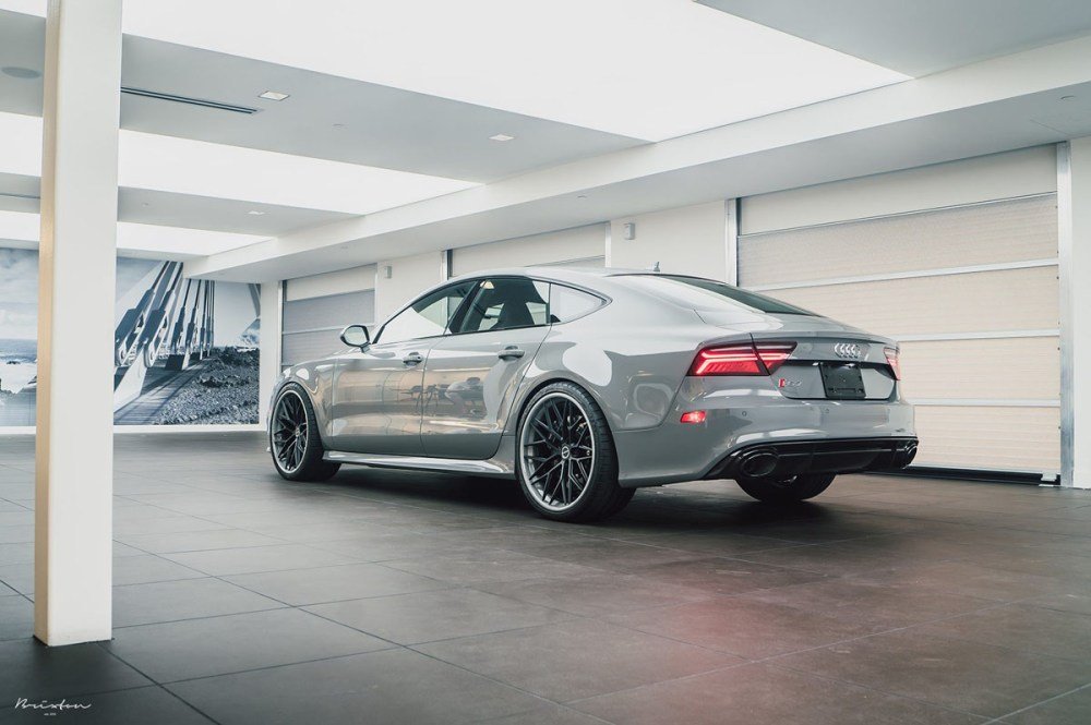 Nardo Grey Audi RS7 with Brixton Forged CM10 Targa Series Wheels