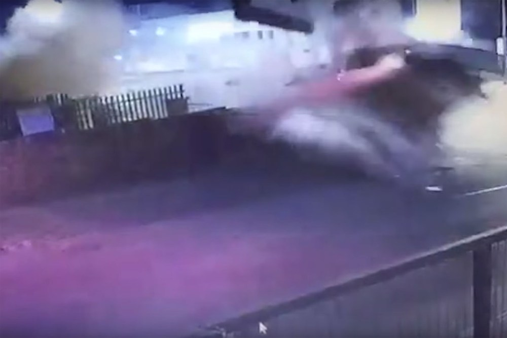 Friday FAIL: Audi TTS Crashes through Billboard