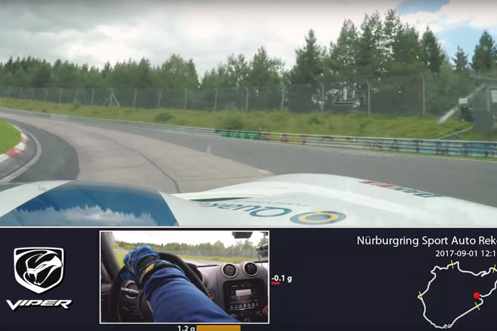 Dodge Viper ACR Nürburgring Nordschleife Lap Attempt