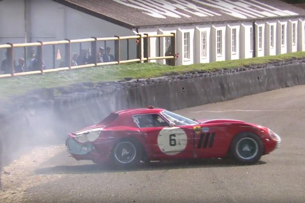 Ferrari 250 GTO/64 Crash at Goodwood Revival