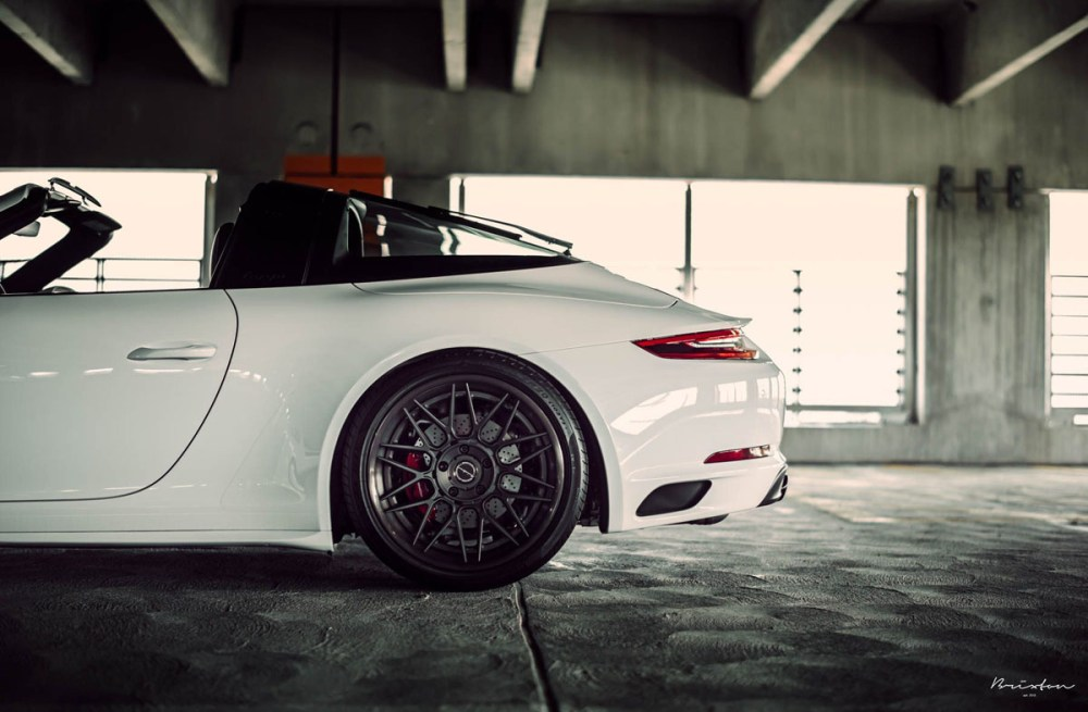 991.2 Porsche 911 Targa 4S Brixton Forged VL13 Targa Series Wheels