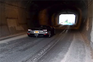 Six Koenigseggs in a Tunnel