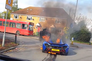 McLaren P1 Burns in UK