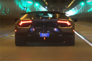Lamborghini Huracan Performante in a Tunnel