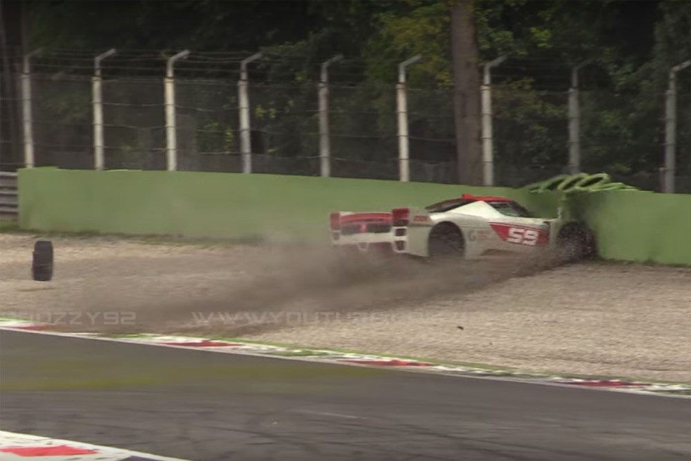 Ferrari FXX Crash at Monza