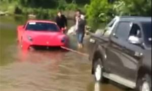 Friday FAIL: Ferrari F12Berlinetta in Water