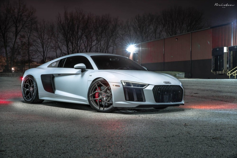 Joel Dunn Suzuka Grey Audi R8 V10 with Brixton Forged PF5 Ultrasport+ Wheels