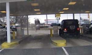 Friday FAIL Bank Drive Thru Crash
