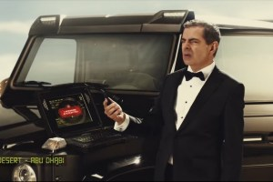 Rowan Atkinson Etisalat commercial with the Chelsea Truck Company Mercedes-Benz G63 AMG Hammer Edition