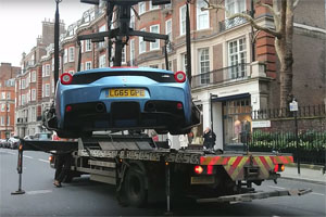 Friday FAIL: Ferrari 458 Speciale A Towed