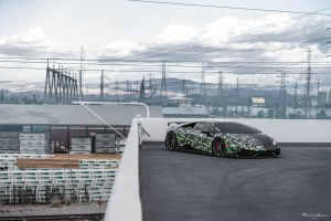 Bape Wrapped Lamborghini Huracan with Brixton Forged PF5 Ultrasport+ wheels owned by @wst_bank