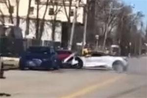 Friday FAIL McLaren 720S Crashes into Audi R8