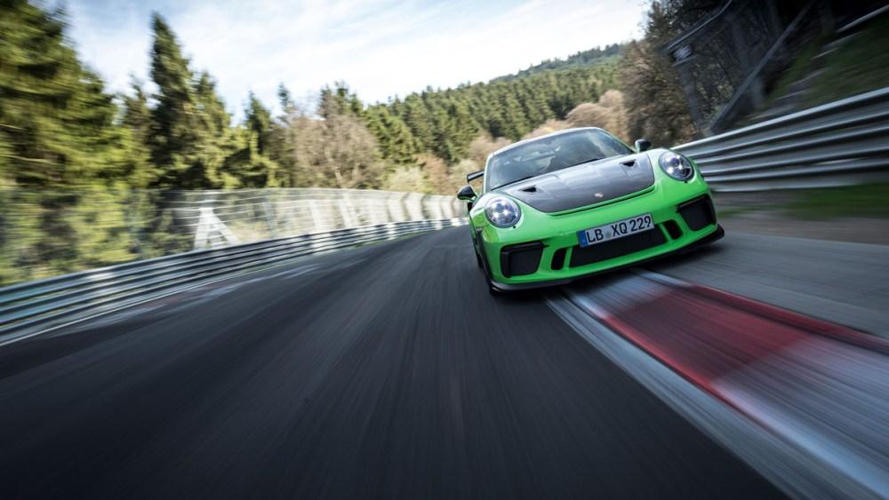 Porsche 911 GT3 RS Nurburgring Lap time 2018