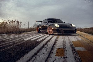 Liberty Walk Widebody Porsche 911 with Brixton Forged HS1 Circuit+ Wheels