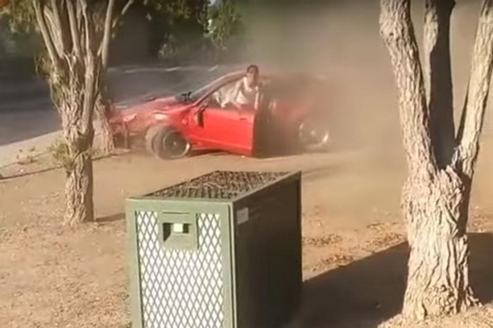 friday fail ford mustang v-6 crash
