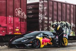 Red Bull Lamborghini Huracan with Brixton Forged PF10 Ultrasport+ Wheels