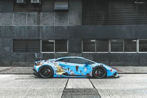ReinART Design Liberty Walk Lamborghini Huracan Brixton Forged PF5 Targa Series Wheels Line Friends