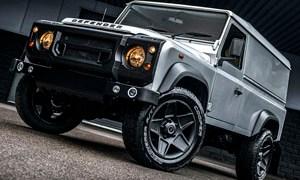 Silver Superhero Land Rover Defender