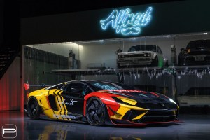 Liberty Walk Lamborghini Aventador with PUR LX12.V2 Wheels by Infinite Motorsports